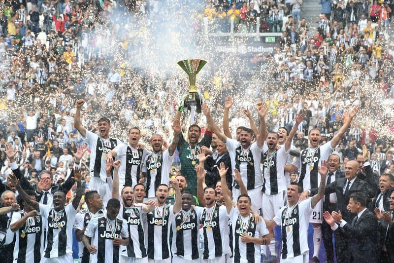 Juventus has won nine straight Serie A titles.