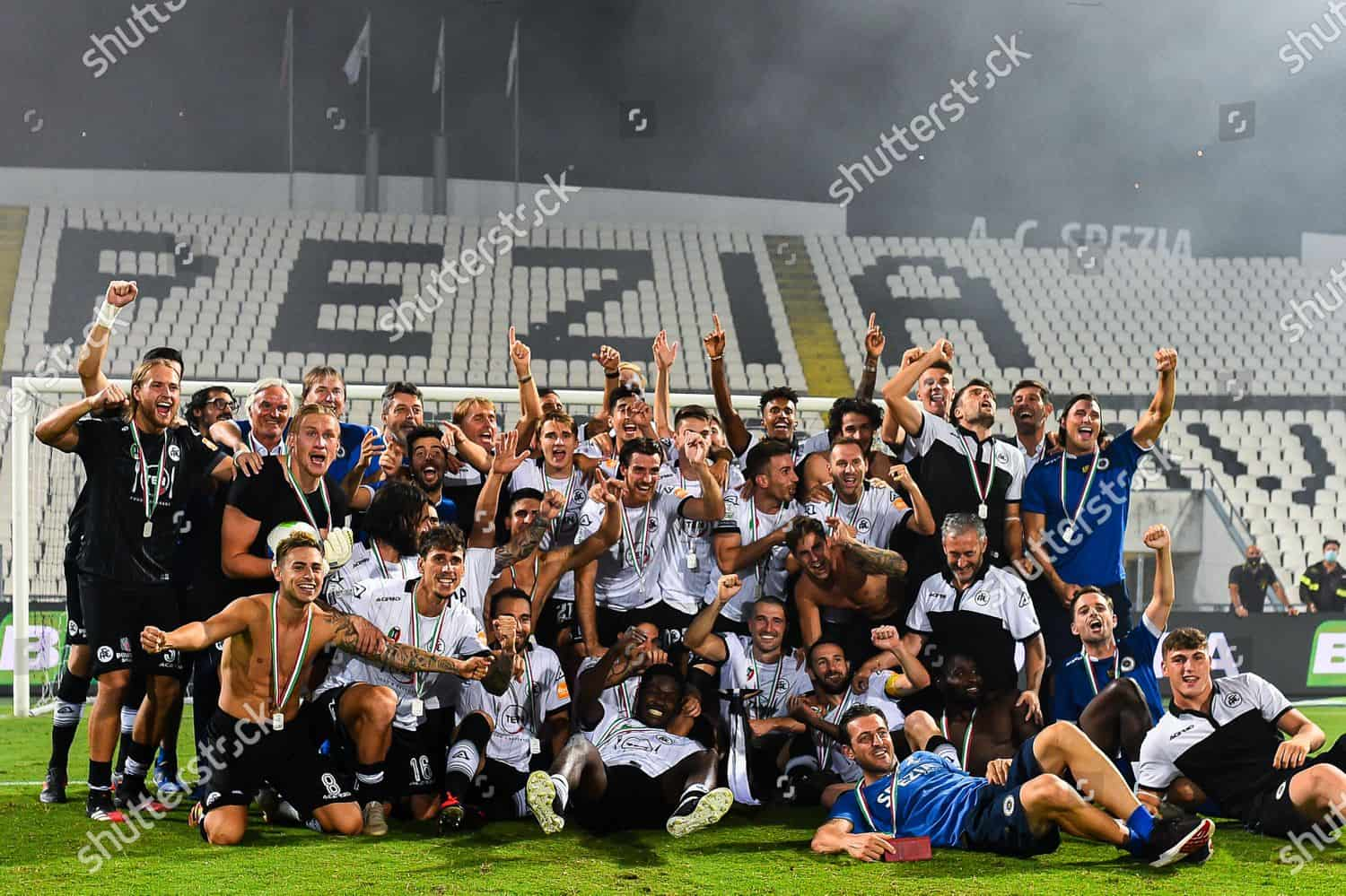 Spezia qualified for Serie A this season for the first time in its 114-year history.
