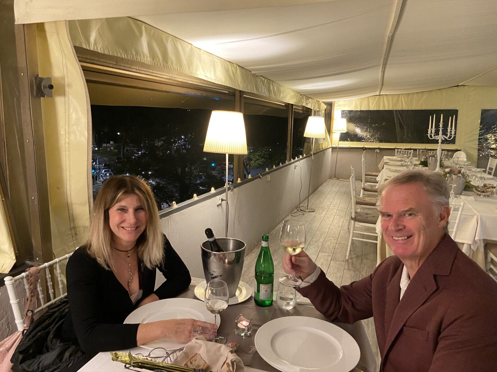 Marina and I dined at Consolini extra early Saturday night to avoid the crowd as Covid numbers climb in Rome.