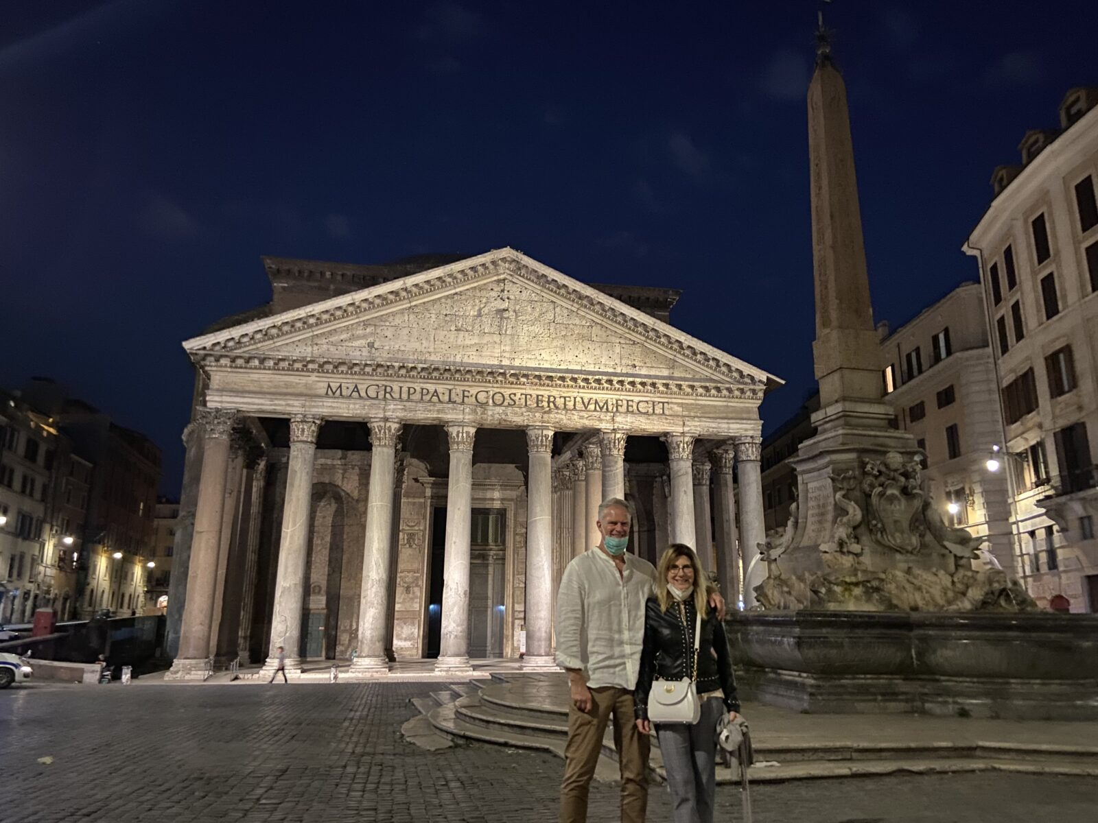 Marina and I at Rome's Pantheon.