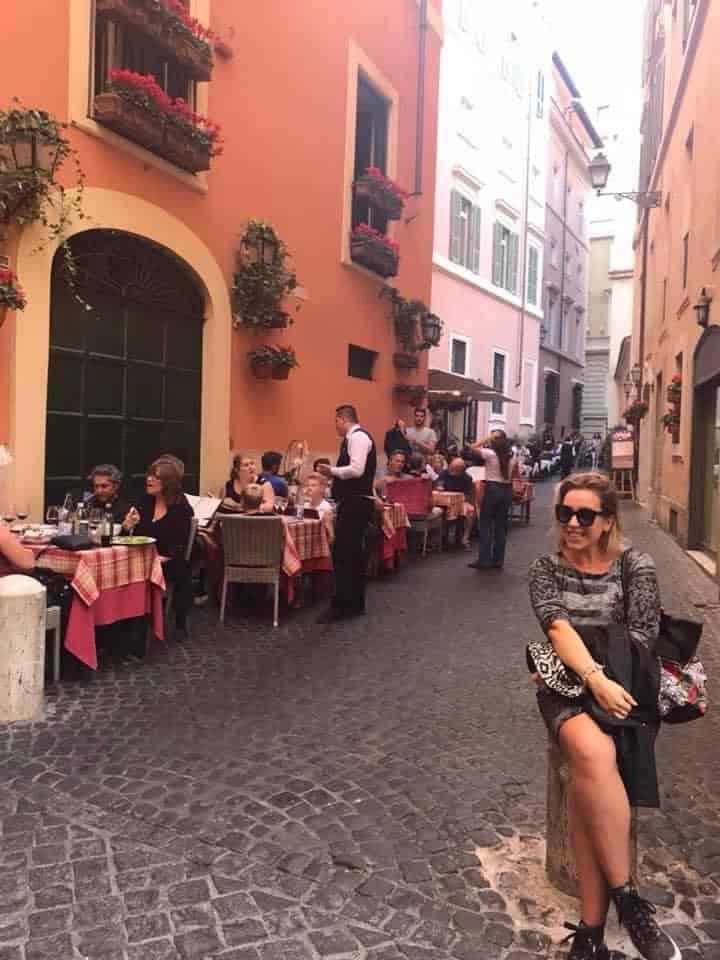 In the Trastevere neighborhood during her 10 years in Rome.