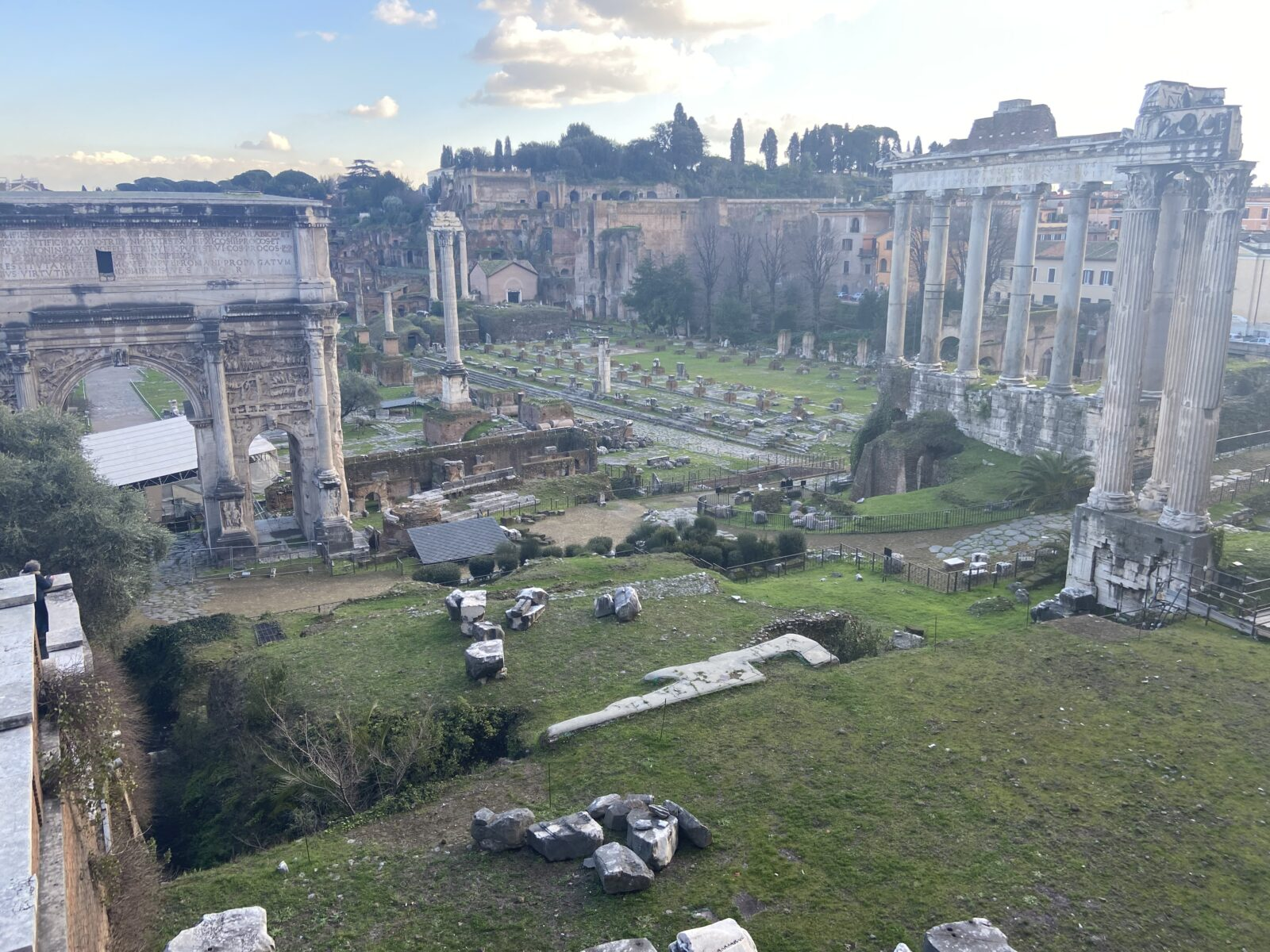 The Roman Forum was eerily empty last week.