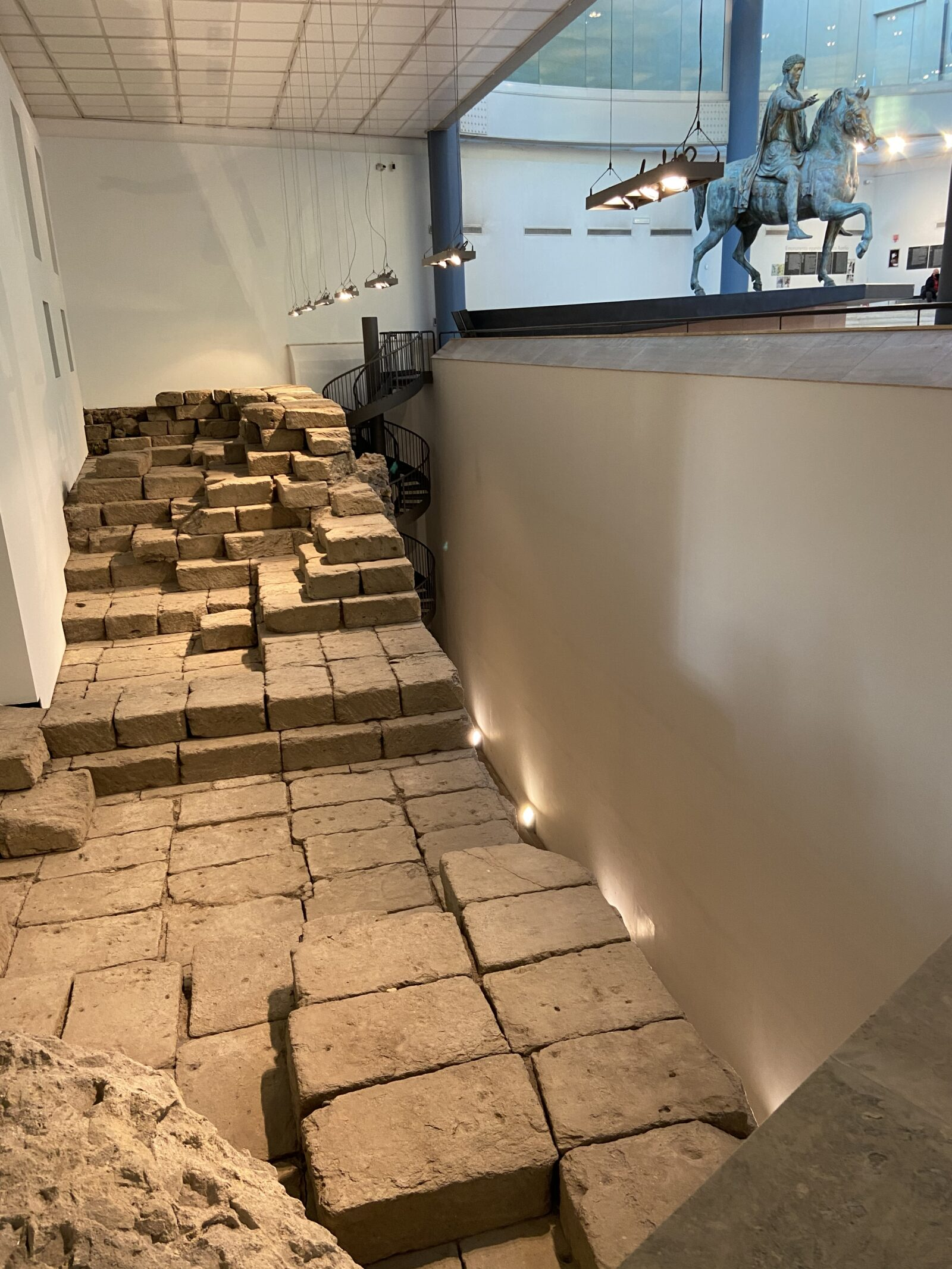 Part of the original floor of the temple that stood here in the 6th century B.C.