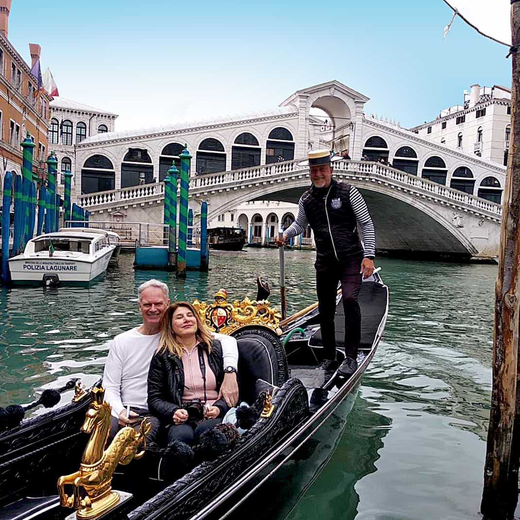Marina and I had been to Venice many times but this was our first gondola ride together.