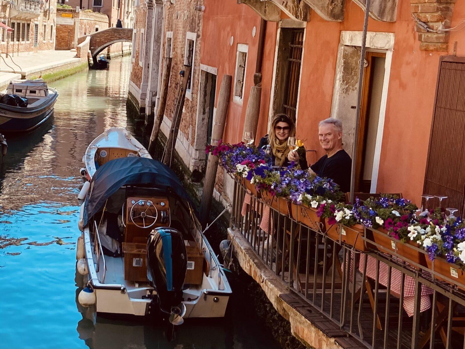 our anniversary in Venice