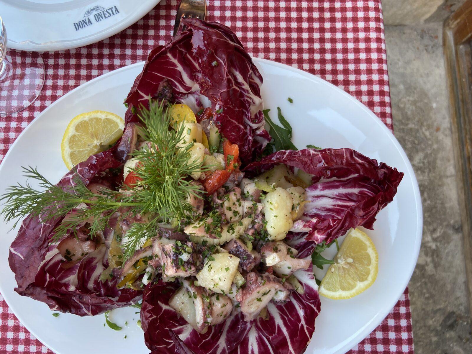 Octopus salad at Trattoria al Gazzettino.