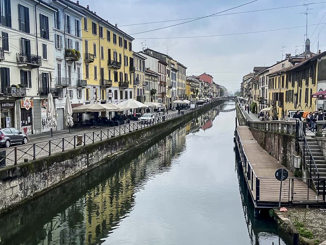 The Navigli dates back to the 1200s and connected Milan to the Adriatic.