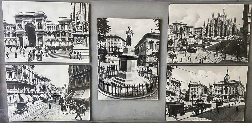 Photos of old Milan on Corso di Porta Ticinese.