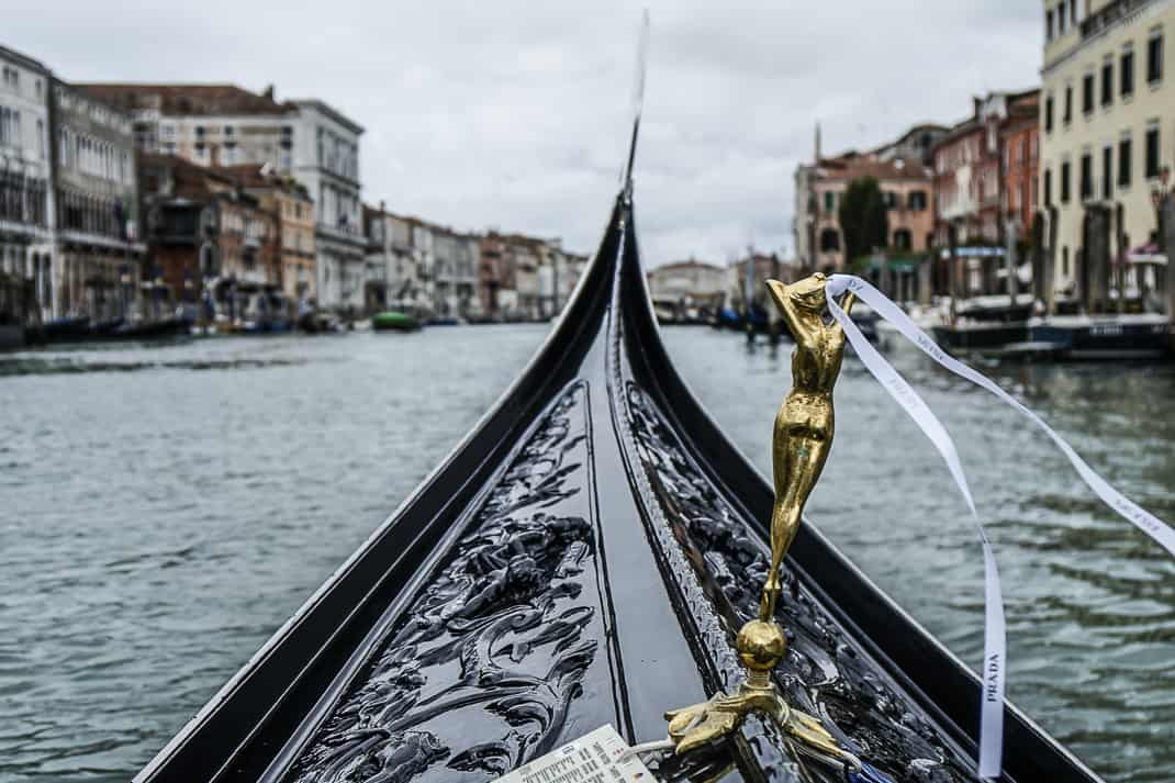 Our gondola as it cruises the Grand Canal.