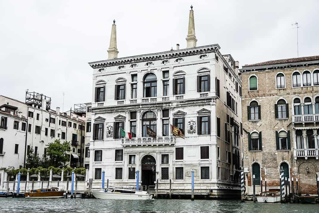The seven-star Aman Venice where George Clooney got married.