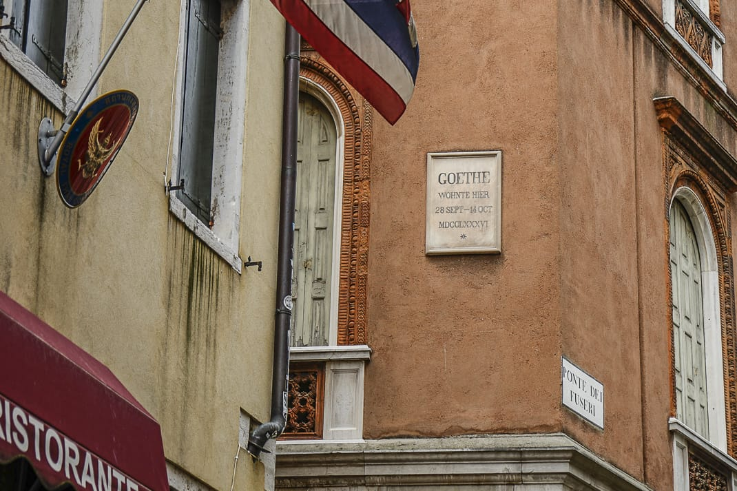 The former home of Wolfgang Goethe, the German poet who lived there from 1786-88.