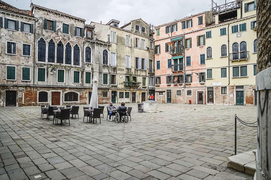 Nearly empty Campo Silvestro.