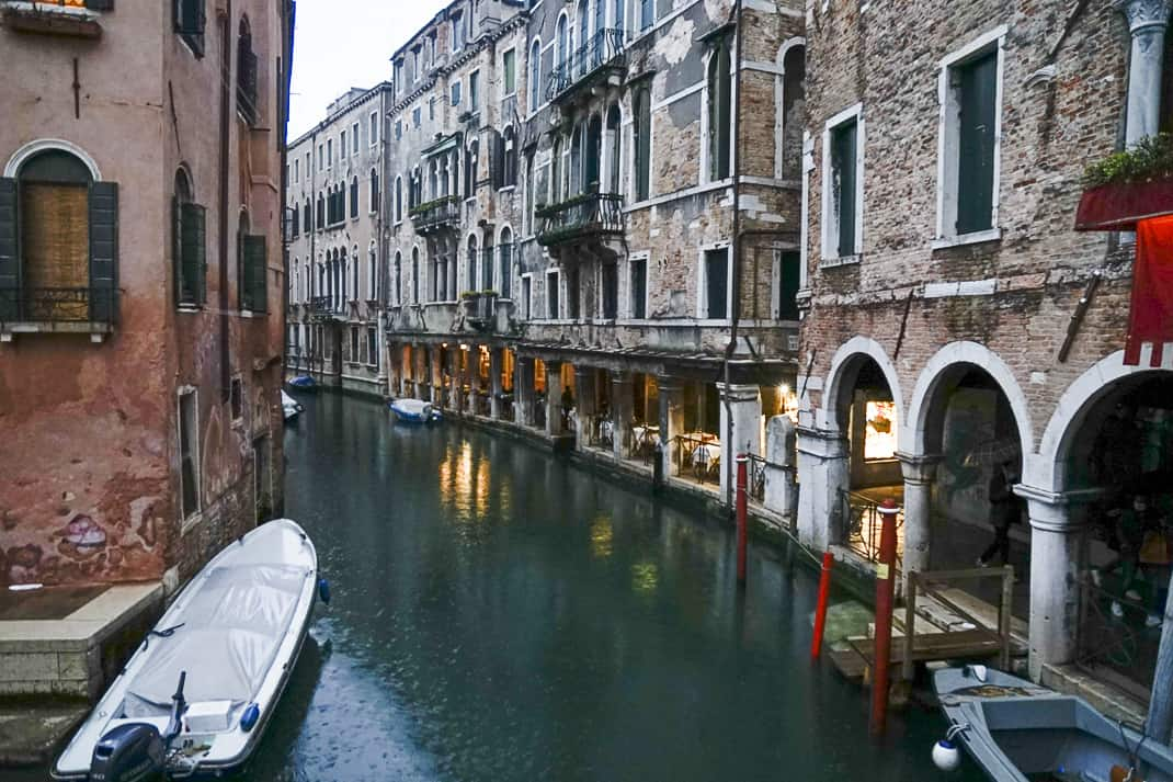 So many canals were quiet and empty it seemed like a different city.