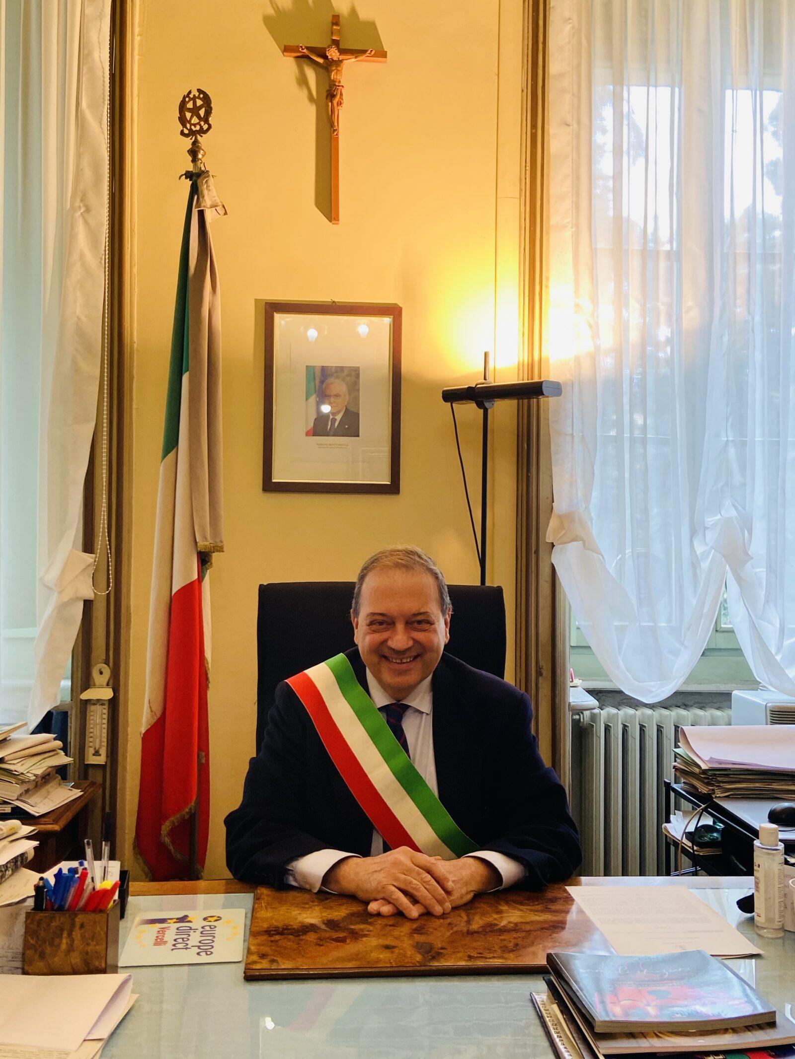 Vercelli mayor Andrea Corsaro
