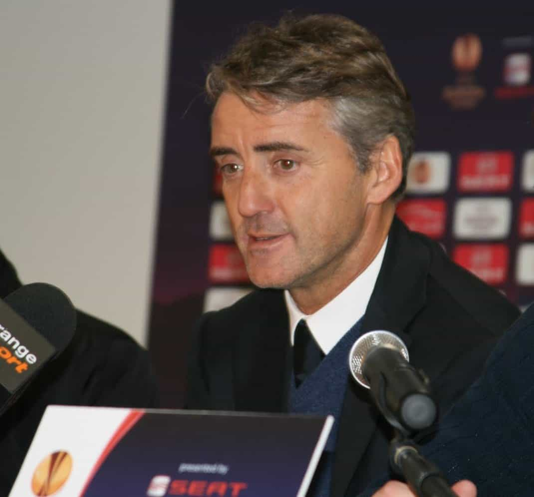 Roberto Mancini has led Italy on a 28-game unbeaten streak, two off the national record.