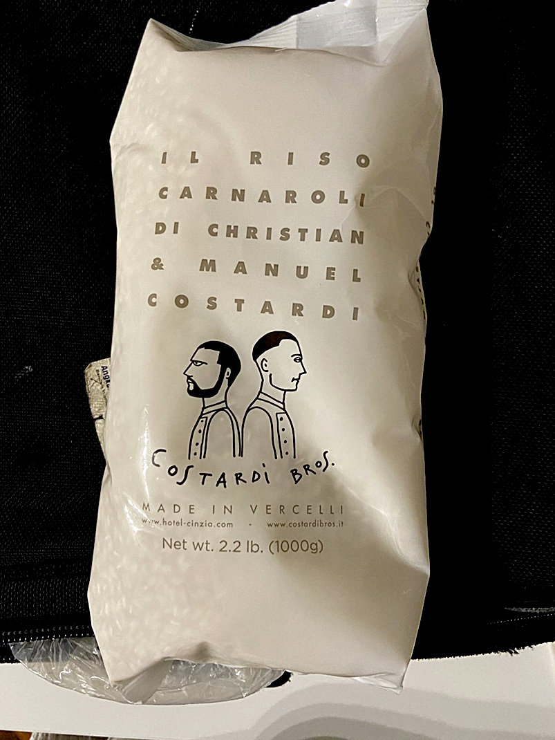 The Costardi brothers developed this Carnaroli rice with a local farm.