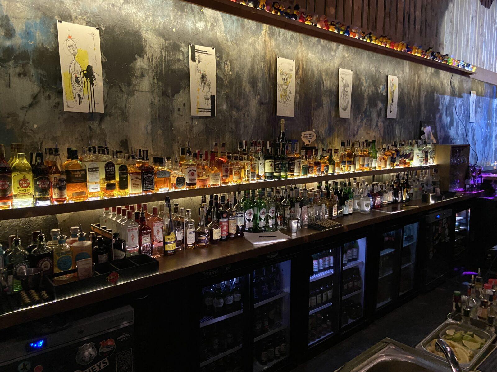 The bar at Bar Friday.