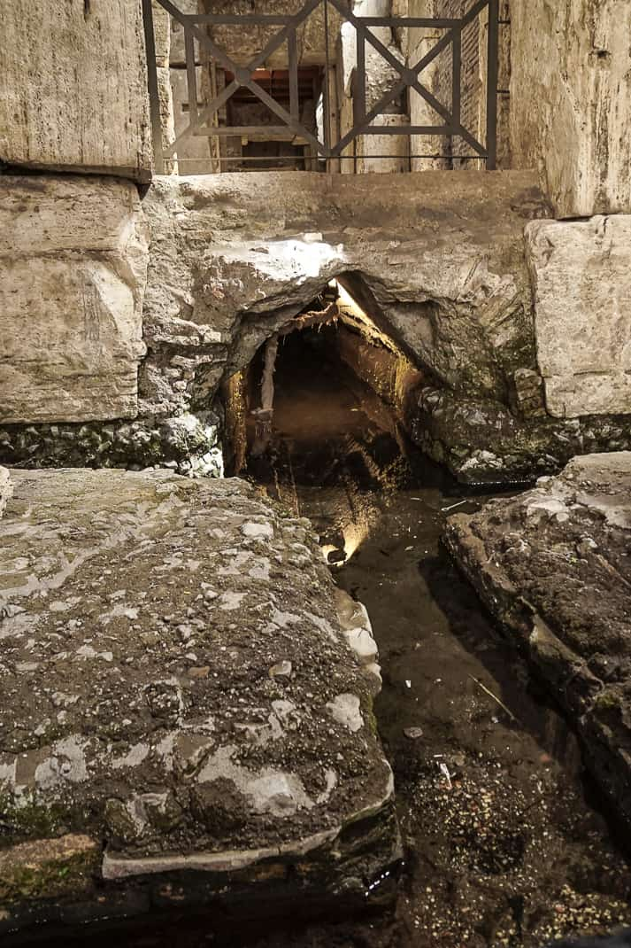 Water from the same vein used 2,000 years ago still runs through the Underground for sewage.