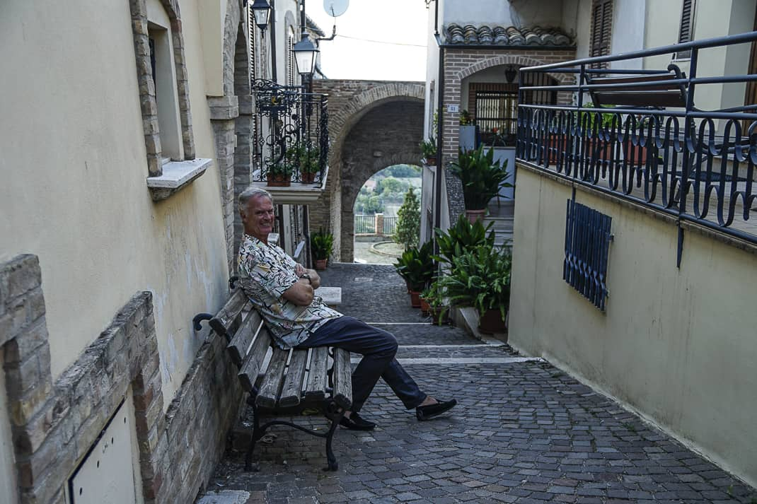 Me on one of the many quaint side streets in Tortoreto.