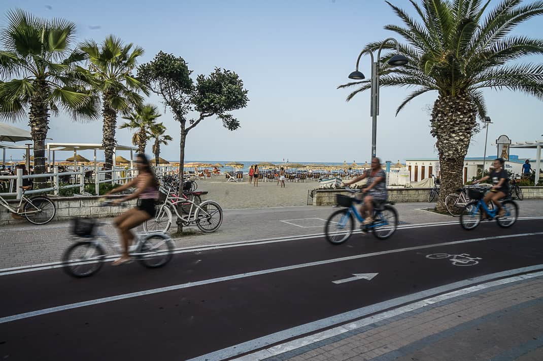 Abruzzo has nearly completed a continuous bike path that stretches miles from Le Marche to Puglia.